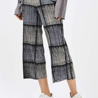 Checked Pleated Trousers | Topshop