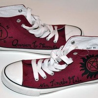 supernatural shoes converse style shoes based on the tv show supernatural