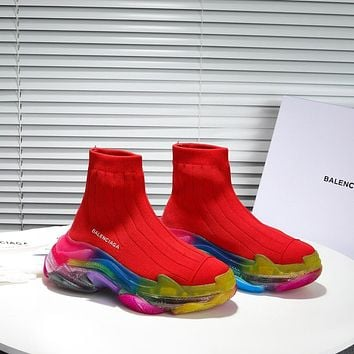 Balenciaga Men's And Women's Flyknit Speed Air Cushion Sneakers Shoes