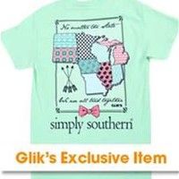 Simply Southern Preppy Collection Tied Together Glik's Exclusive T-Shirt for Women SS-GLIKSTATE