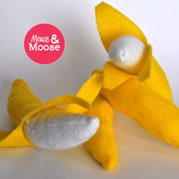Eco Friendly 100% Wool play Bananas