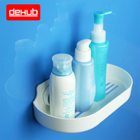 DeHUB Suction Bathroom Gargle Tooth Cup Holder Powerful Plastic Kitchen Sundry Shelf Toiletries Storage Towel Rack Soap Dishes