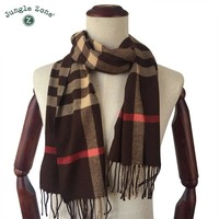 Winter Scarf 2018 Cashmere Scarf Plaid Blanket Scarf New Designer men wool plaid bandana Scarves and Wraps WJ10