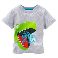 pudcoco Short Sleeve Cartoon Toddler Baby Kids Boys Cotton Tops T-shirt Clothes 1-6 Yrs baby boy spring summer cotton t shirt