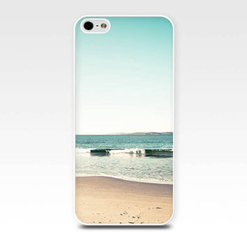 beach iphone case 5s iphone 4s case beach scene nautical iphone case iphone 4 iphone 5 case fine art iphone photography case mint teal waves