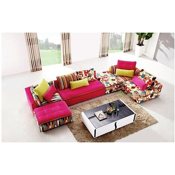 Nordic Fancy Modern Mix Bright Shine Sectional Set