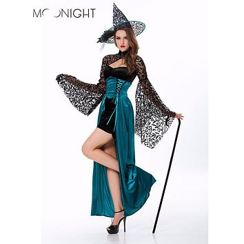 MOONIGHT Sexy Witch Halloween Costume Deluxe Adult Womens Magic Moment