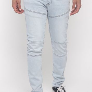 Basic Moto Biker Denim Jeans