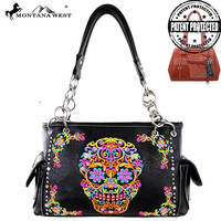 Montana West Sugar Skull Conceal Carry Handbag