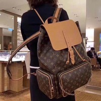 LV Louis Vuitton MAGICLOOK BOSPHOR  backpack Inspired Style Women Handbag Tote Shoulder Extremely Large 45x33x22cm Bag Brown Monogram Plus Reverse Universal Color Organizer Onthego Bag made of Canvas