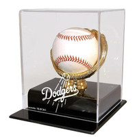 Los Angeles Dodgers MLB Single Baseball Gold Glove Display