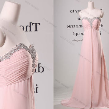 Off Shoulder Sweetheart Chiffon Long Prom Dress//long evening dress//long bridesmaid dress//bridesmaid dress