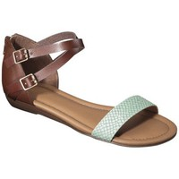 Women's Merona® Elba Silver Wedge Sandal with Back Counter - Mint