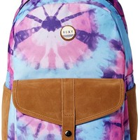 Roxy Junior's Caribbean Polyester Backpack, Midnight Palm, One Size