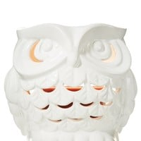 1.3 oz. Mini Candle Luminary Ceramic Owl Luminary