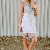 Shredded Knit Tunic