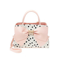 PEARL OF A GIRL BOW SATCHEL: Betsey Johnson