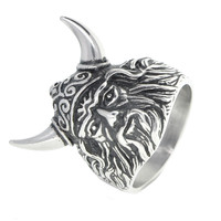 Dear Deer Stainless Steel Viking Warrior Ring