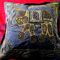 Indian cushion cover/ Embroidered cushions cotton / Indian decor / hand printed indian cushions / indian cotton cushions / home decor indian