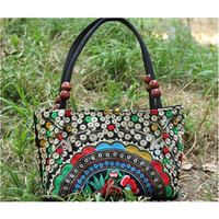 Original Chinese National Style Yunnan Featured Embroidery Small Bag Handbag Woman's Bag  1