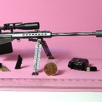 """Gun M82A1 #12 BARRETT M107 MARINE SNIPER RIFLE 1:6 SCALE MODEL FOR 12"""" ACTION FIGURES (Original from TheBestMoment @ Amazon)"""