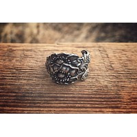 The Big Poppy Sterling Spoon Ring