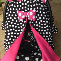 Cozy little Minnie Car seat canopy
