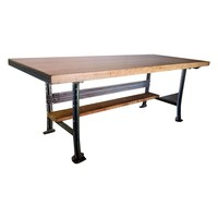 Pre-owned Butcher Block Industrial Table or Desk