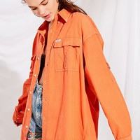 Urban Renewal Recycled Color Pop Corduroy Button-Down Shirt | Urban Outfitters