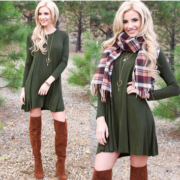 About A Girl Dress - Olive