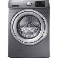 Samsung - 4.2 Cu. Ft. 9-Cycle High-Efficiency Steam Front-Loading Washer - Platinum