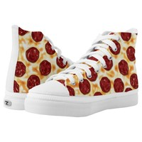 Pepperoni Pizza Pattern Printed Shoes