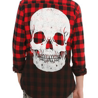 Iron Fist Death Breath Black & Red Plaid Woven