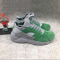 Nike Air Huarache 1 4 Suede Green Grey Sport Running Shoes