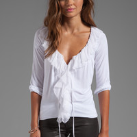 Bailey 44 Tennyson Front Ruffle Top in White from REVOLVEclothing.com