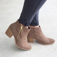 Nashville Native Taupe Booties