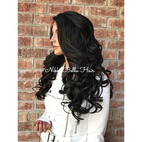 Leticia Dark Brown Curls Lace Front Wig 22""