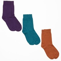 skpack5 - Lightweight Cotton Blend Calf-High Sock (3-Pack)