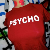SWEET LORD O'MIGHTY! OG PSYCHO CROP TEE IN RED