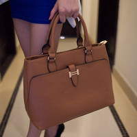 Professional Business Handbag With Metallic Accents Free Shipping!!