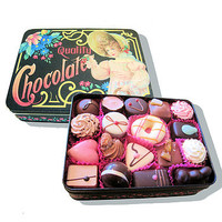 Vintage Style Gift Tin Filled With Chocolates