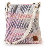 Roxy Awake Cream & Pink Crossbody Purse