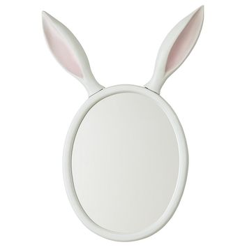 Good Hare Day Wall Mirror - Mirror that features a pair of oversized rabbit ears. Carrots not included.