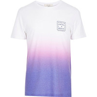 River Island MensWhite South Central faded t-shirt