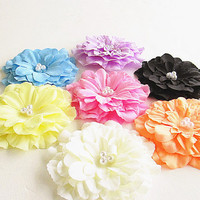 Flower Hair Clip, Flower Hair Pin, Flower Brooch,  Hair Accessories, Flower Hair Clips, Big Flower Clip- 7 colors to choose from.