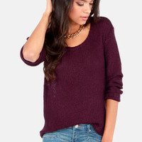 Casual Remarkable Burgundy Sweater