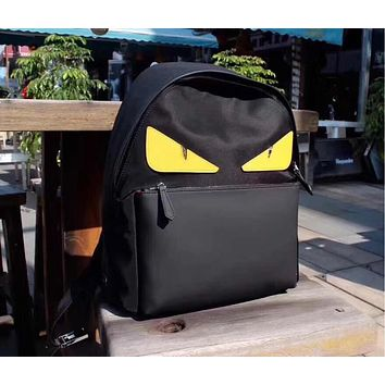 FENDI MEN'S NEW STYLE CLOTH AND LEATHER BACKPACK BAG