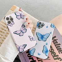 New product trend butterfly print iPhone simple phone case cover