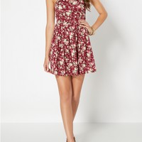 Floral Bustier Mini Dress