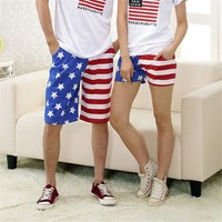 USA Flag Print Beach Shorts 042208 DP B0616